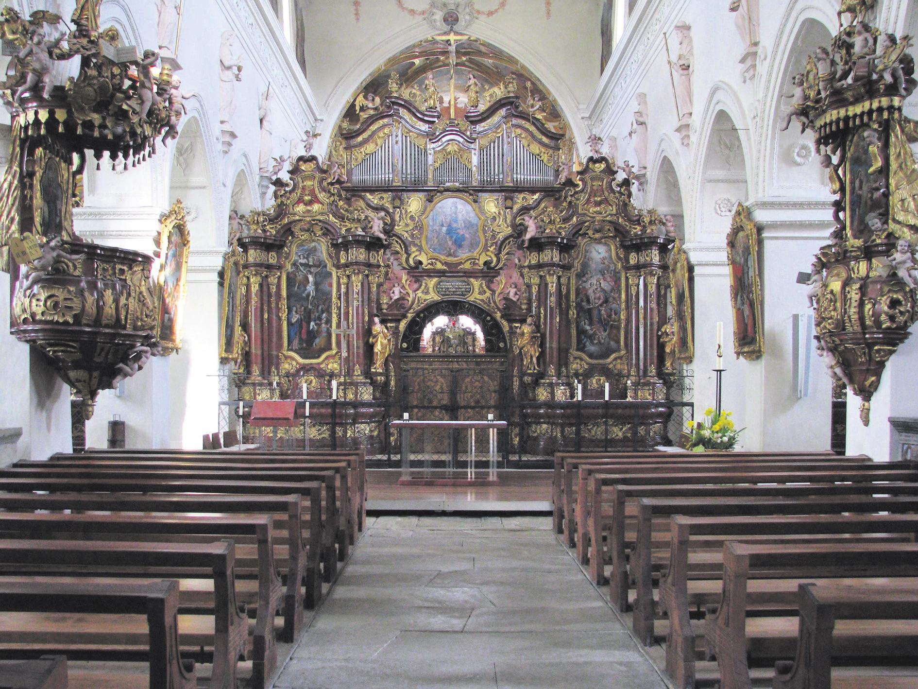 Die prachtvolle Wettinger Klosterkirche kann auf eigene Faust oder mittels Führung besichtigt werden. Bild: Archiv