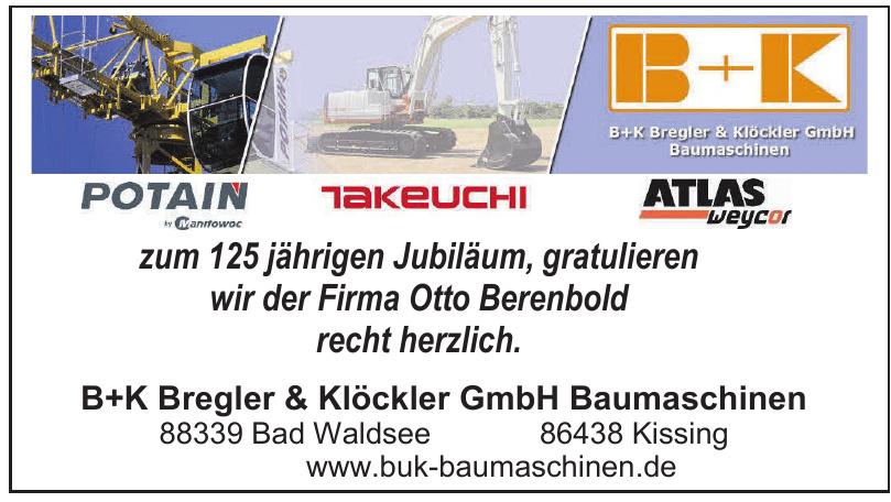 B+K Bregler & Klöckler GmbH Baumaschinen