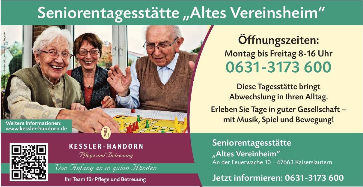Kessler Handorn: Seniorentagesstätte Altes Vereinsheim