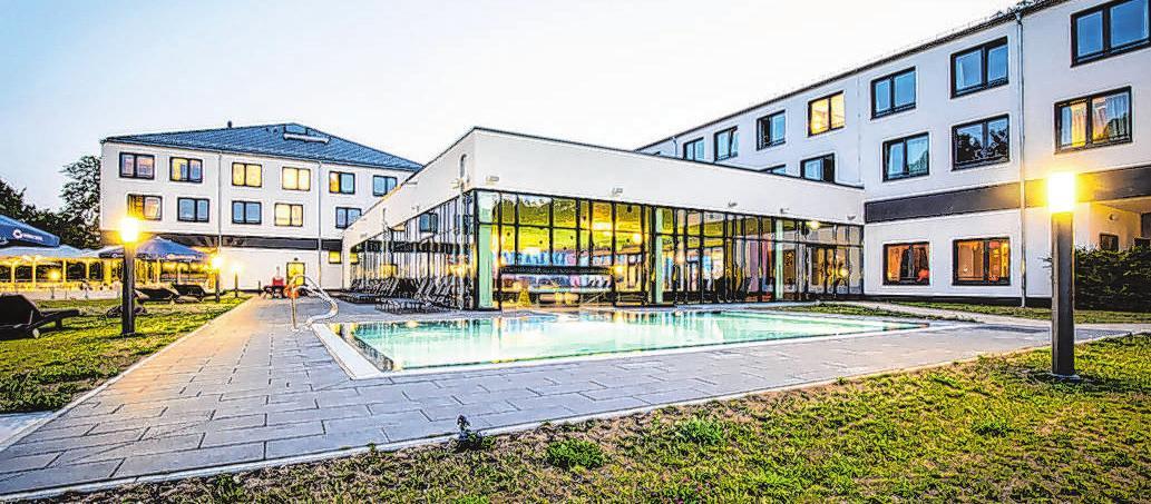 Diese moderne Hotelanlage beherbergt 150 Gästezimmer.