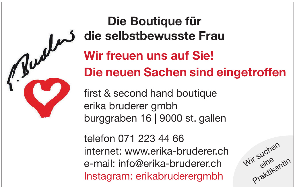 First & Second Hand Boutigue Erika Bruderer GmbH