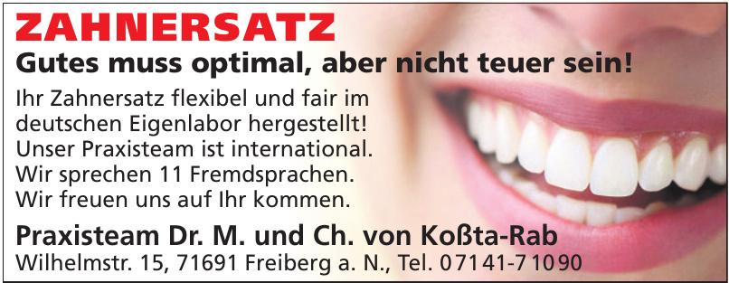 Praxisteam Dr. M. und Ch. von Koßta-Rab