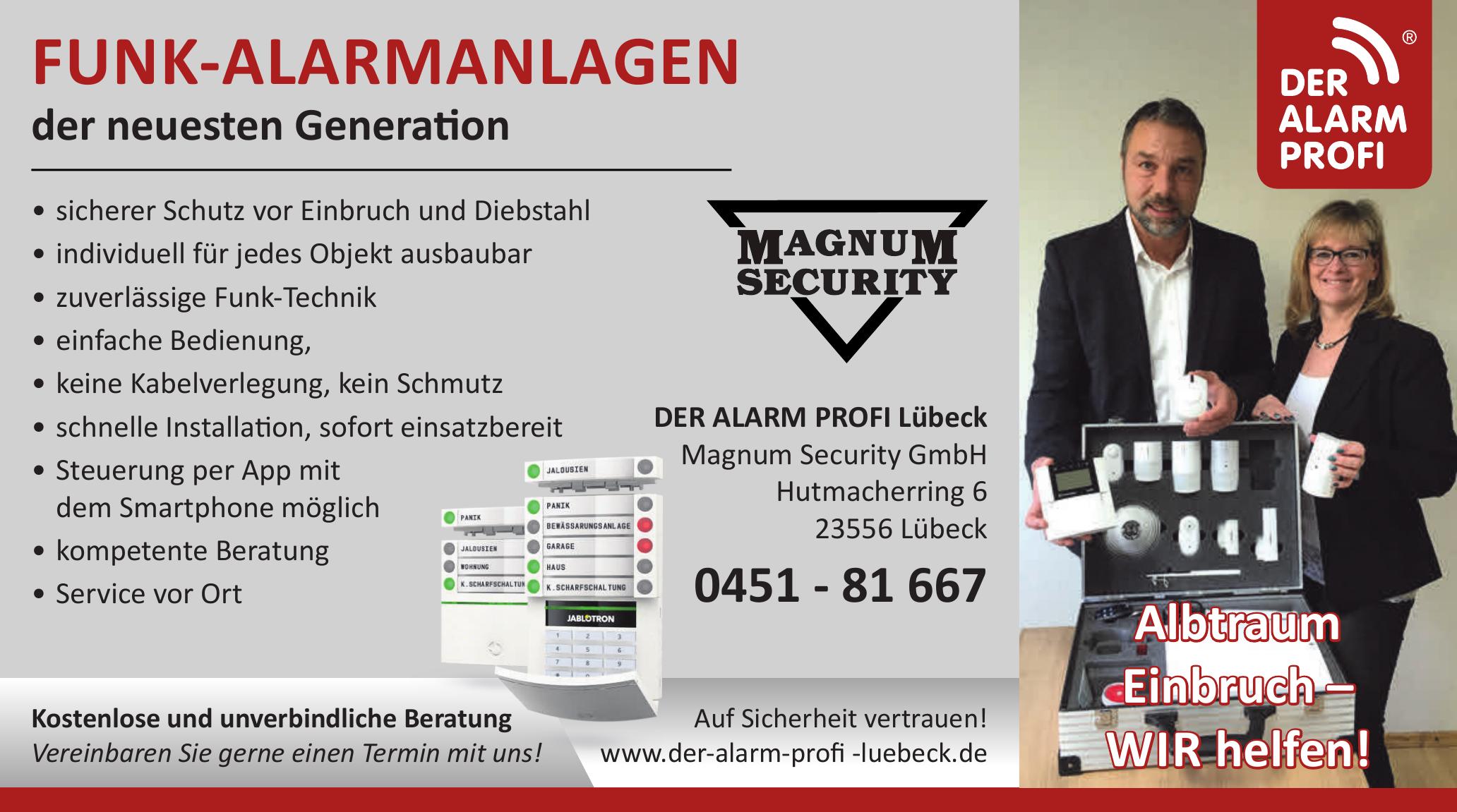 Der Alarm Profi Lübeck Magnum Security GmbH