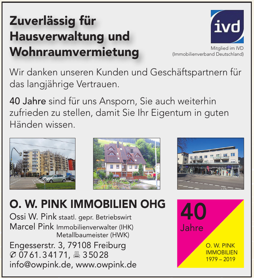 O. W. Pink Immobilien OHG