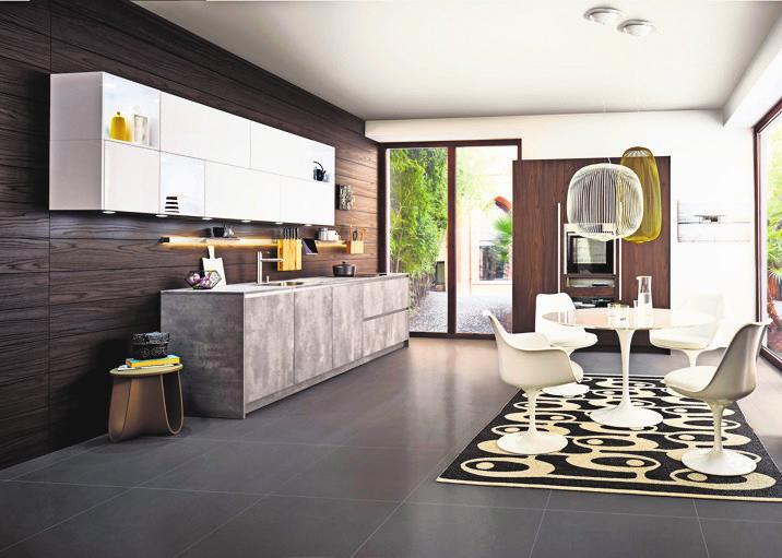 Küche in modernem Design.