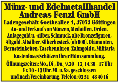 Münz- und Edelmetallhandel Andreas Fenzl GmbH