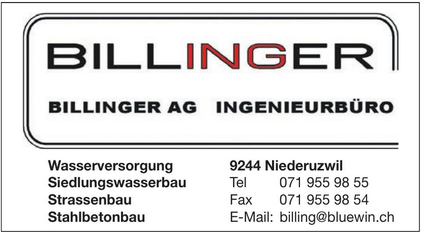 Billinger AG Ingenieurbüro