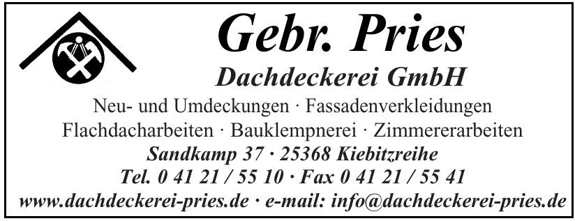 Gebr. Pries Dachdeckerei GmbH