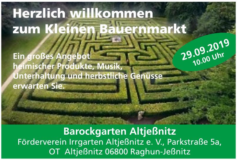 Barockgarten Altjeßnitz