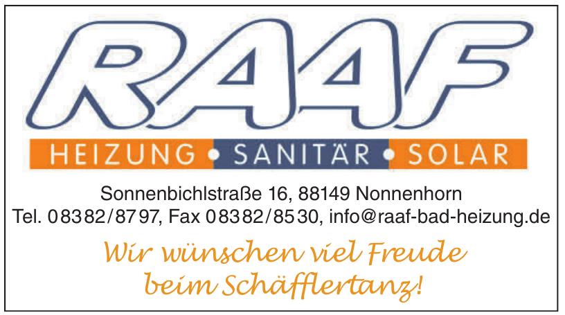 Raaf Georg Heizung - Sanitär - Solar