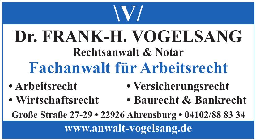 Dr. Frank-H. Vogelsang Rechtsanwalt & Notar