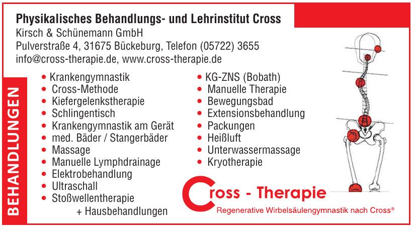 Cross - Therapie Physikalisches Behandlungs- und Lehrinstitut Cross Kirsch & Schünemann GmbH