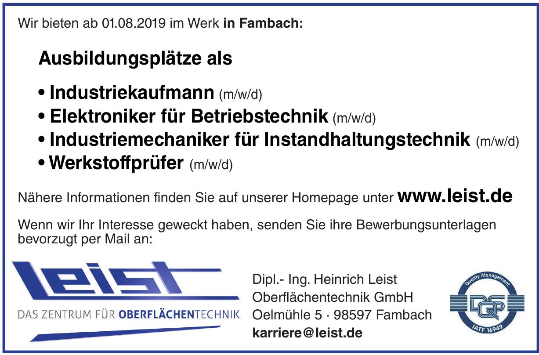 Dipl.- Ing. Heinrich Leist Oberflächentechnik GmbH