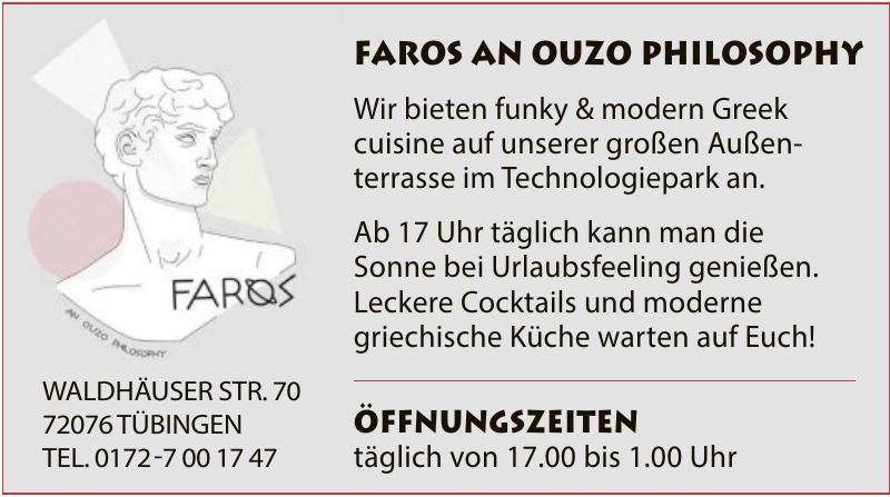 FAROS an Ouzo Philosophy