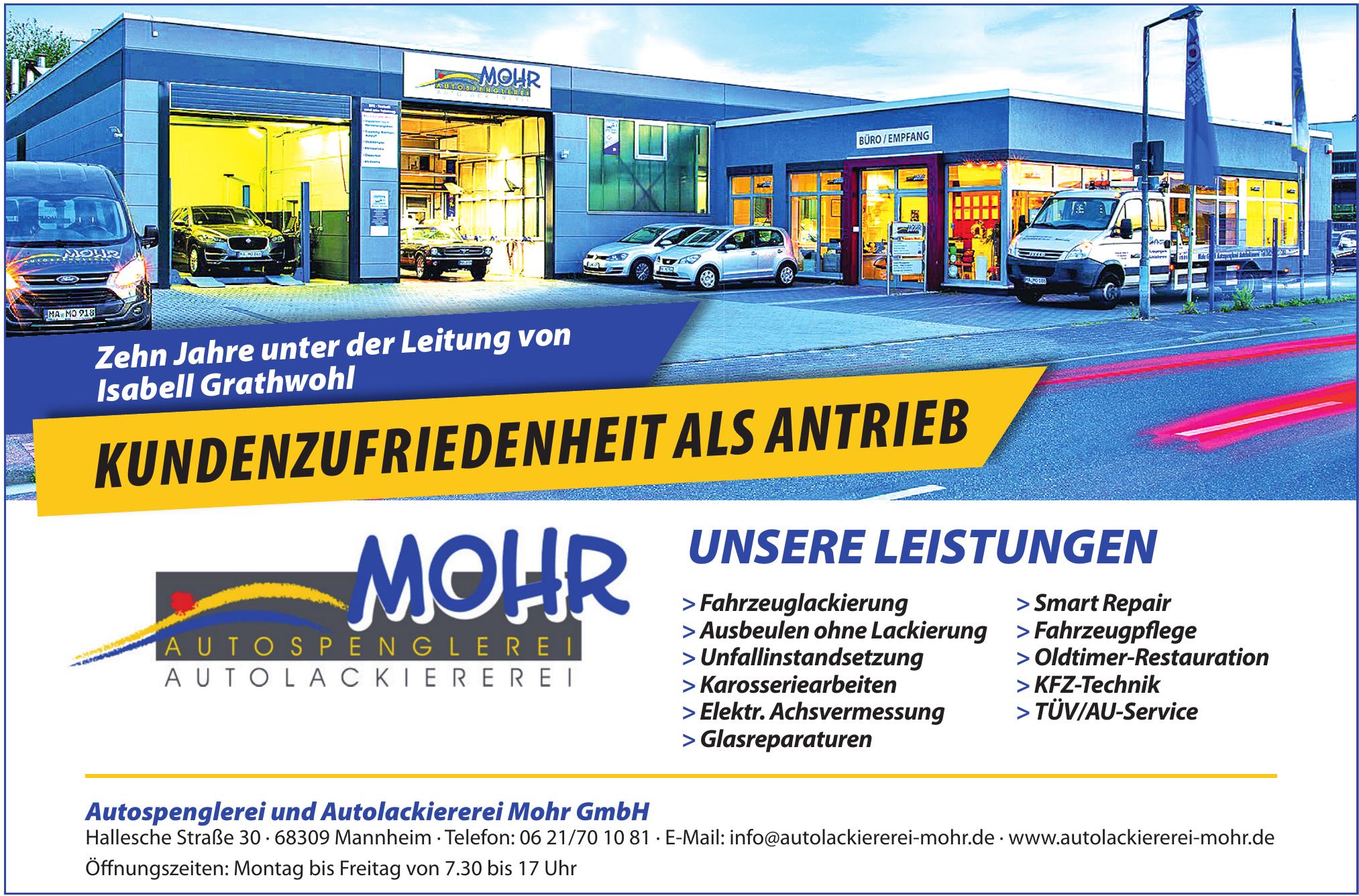 Autospenglerei und Autolackiererei Mohr GmbH