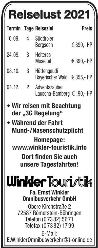 Winkler Touristik