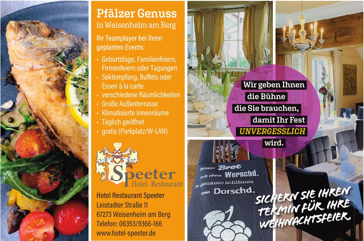 Speeter Hotel - Restaurant