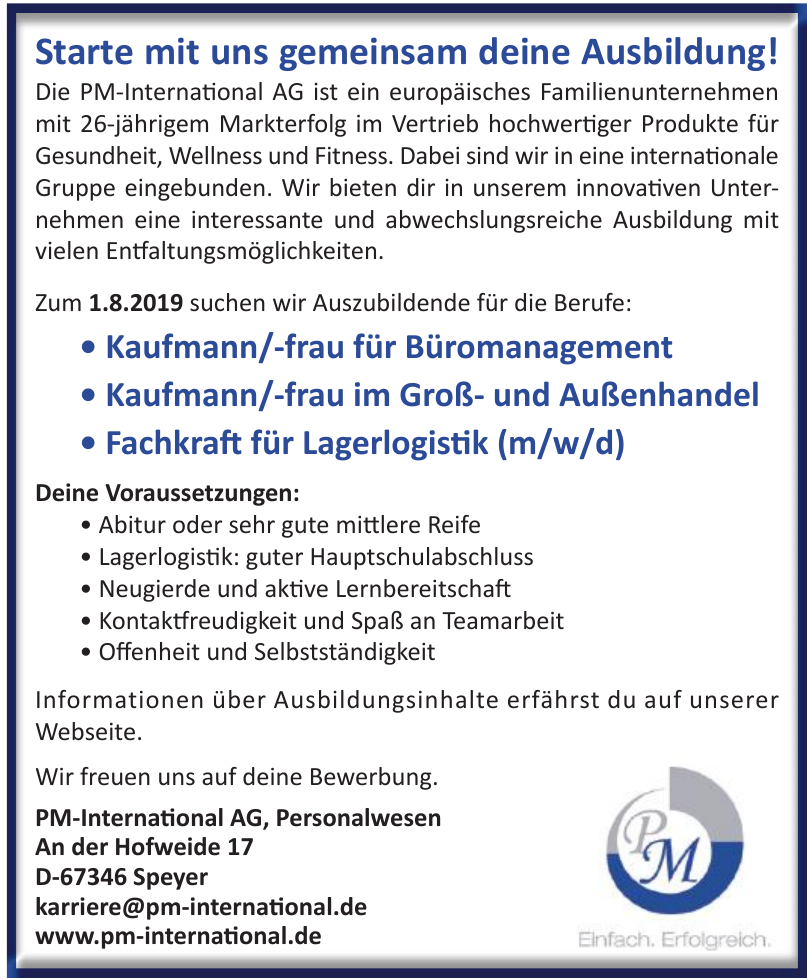PM-International AG, Personalwesen
