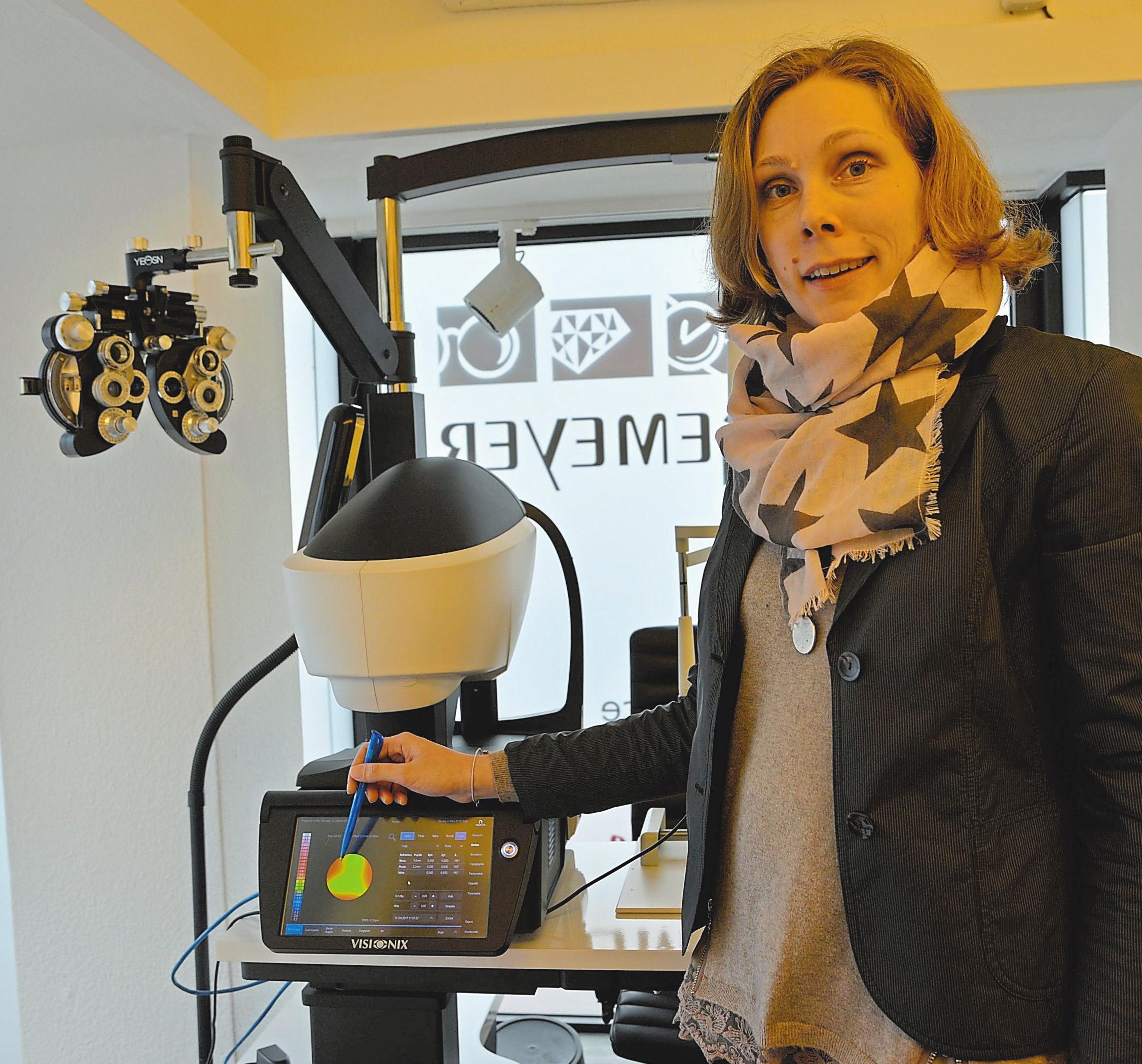 Die Optik-Abteilung ist mit demDNEye® Scanner 2+ der FirmaRodenstock sehr gut gerüstet.