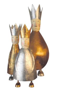 Die drei Könige als dekorative Majestäten. Chez Corinne in der Hüxstraße 75 führt diese sympathischen Weihnachtsbegleiter. Fotos: Carola Pieper