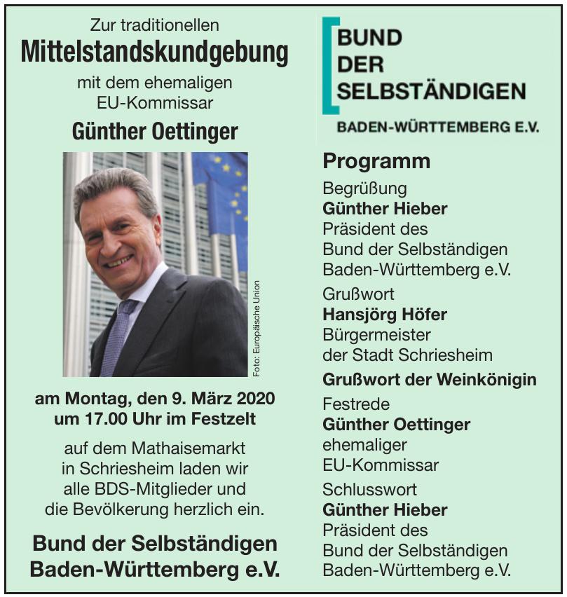Bund der Selbständigen Baden-Württemberg e.V.