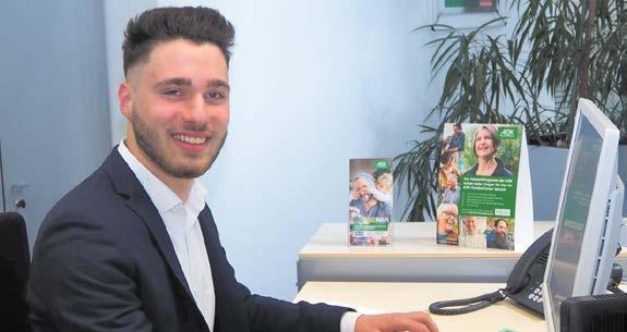 Lennart Winkler macht derzeit bei der AOK Ostwürttemberg seine Ausbildung zum Sozialversicherungsfachmann.