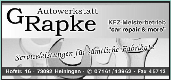 Autowerkstatt GRapke