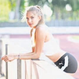 Weiß sich gut in Szene zu setzen: Leichtathletin Alica Schmidt liebt den Laufsport, die große Bühne Tartanbahn und Instagram