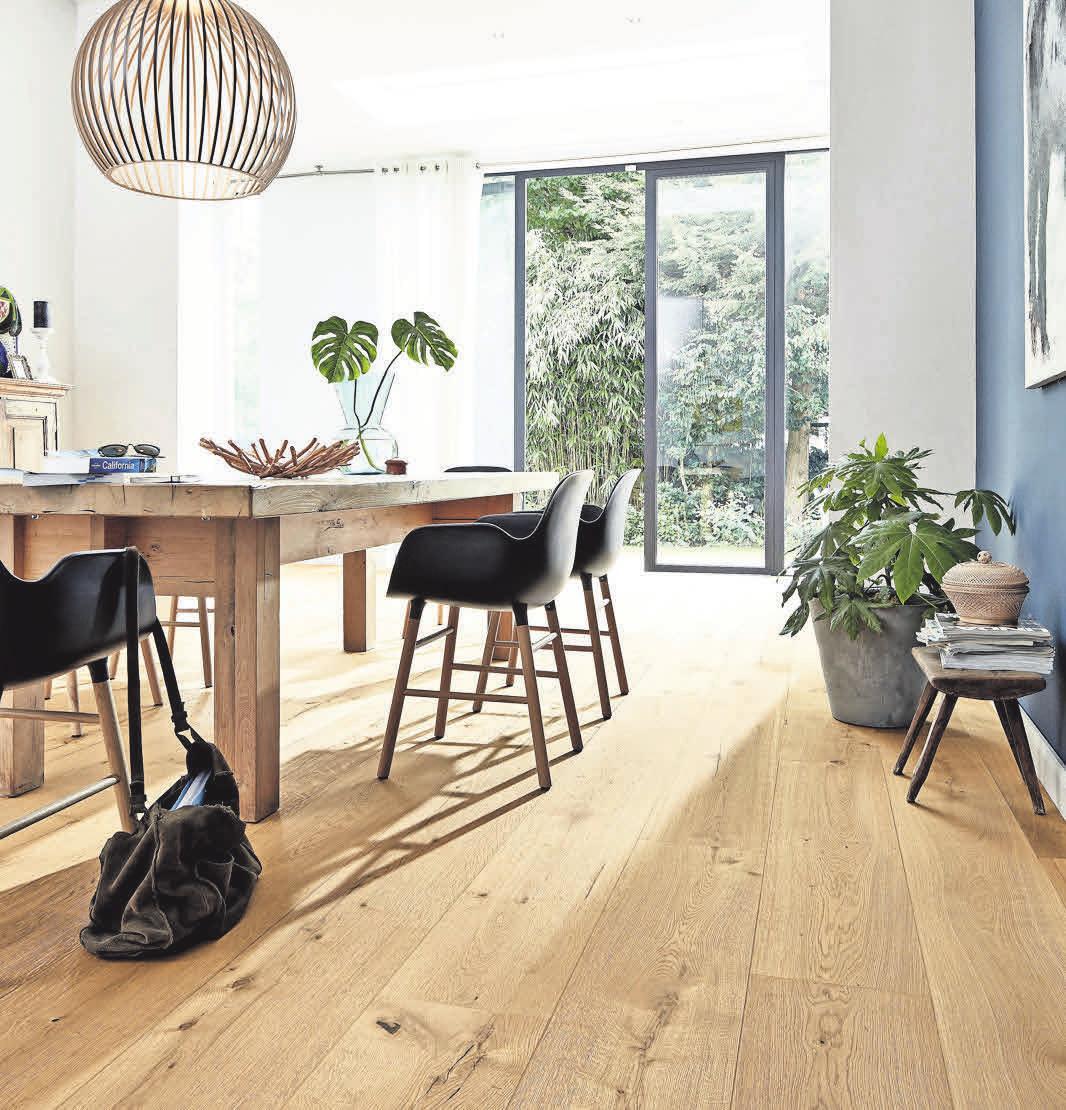 Der Lindura-Holzboden mit authentischem Farbspiel und naturgeöltemFinish. Foto: Meister