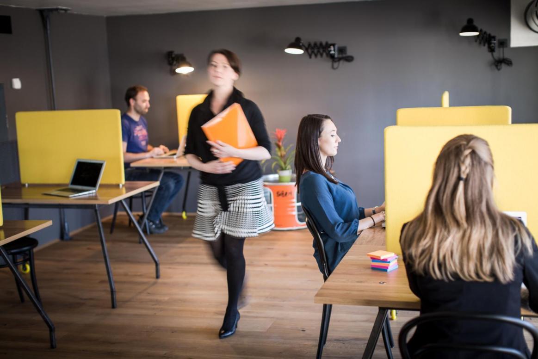 Der Co-Working-Space im Hotel Schani in Wien. Das Haus ist Partner im FutureHotel-Netzwerk.FOTO: HOTEL SCHANI