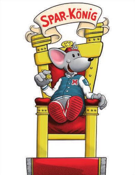 """Sparkönig: """"Manni, die Maus"""" sorgt dafür, dass es auf dem Mäusekonto stattliche Zinsen gibt"""