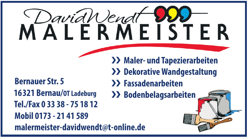 David Wendt - Malermeister