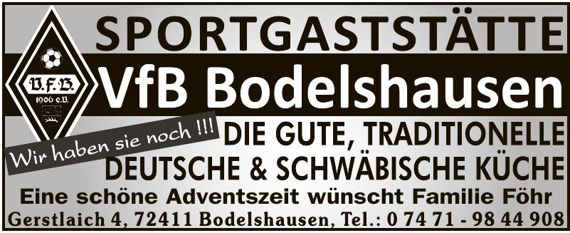 Sportgaststätte VfB Bodelshausen