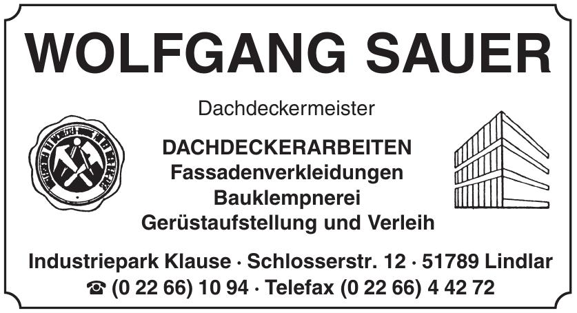 Wolfgang Sauer Dachdeckermeister