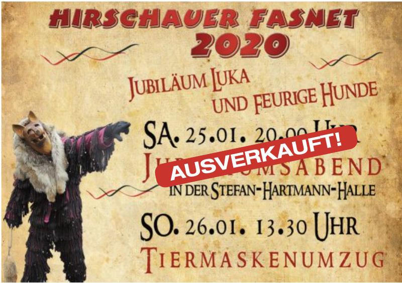 Hirschauer Fasnet 2020