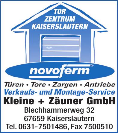 Verkaufs- und Montage-Service Kleine + Zäuner GmbH