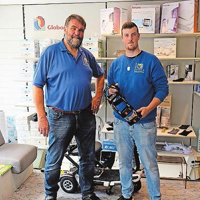 Sanitätshaus Kobbe: Lutz und Steffen Kobbe bieten kompetente Lösungen. FOTO: TKN