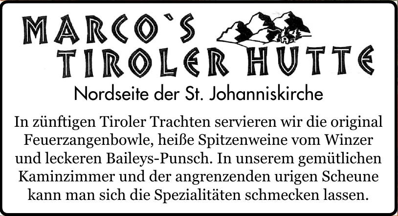 Marco´s Tiroler Hutte