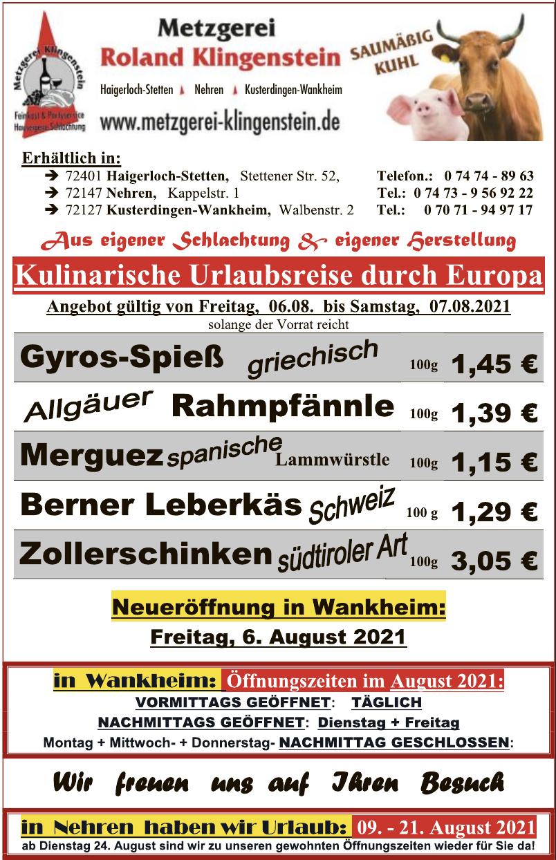 Metzgerei Klingenstein