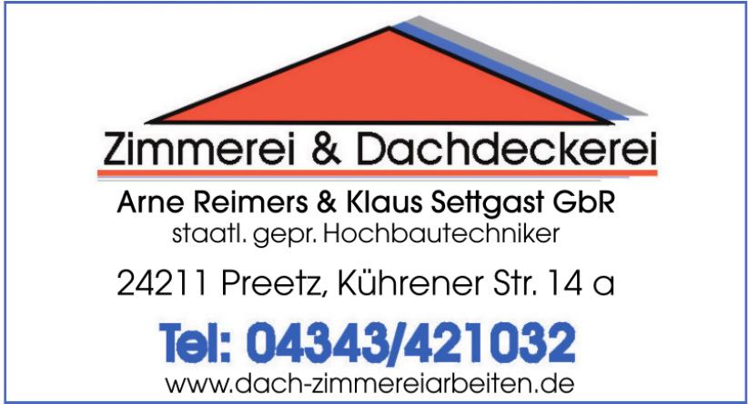 Zimmerei & Dachdeckerei Arne Reimers & Klaus Settgast GbR
