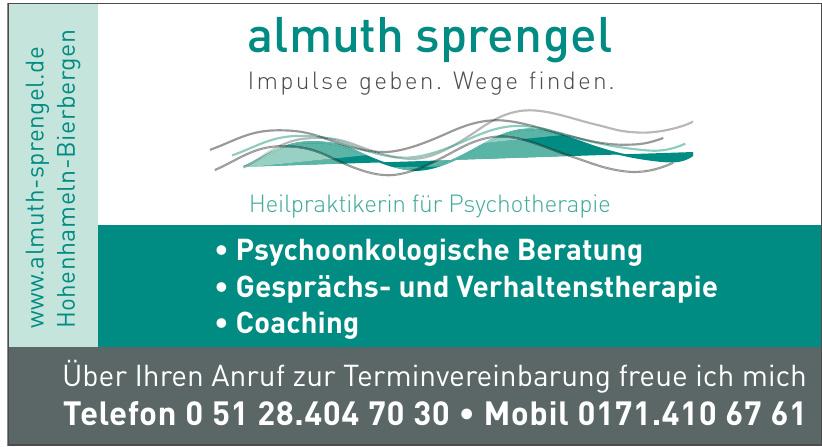 Almuth Sprengel Heilpraktikerin für Psychotherapie