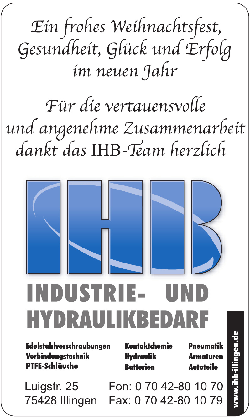 IHB Industrie- und Hydraulikbedarf
