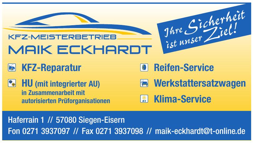 KFZ-Meisterbetrieb Maik Eckhardt