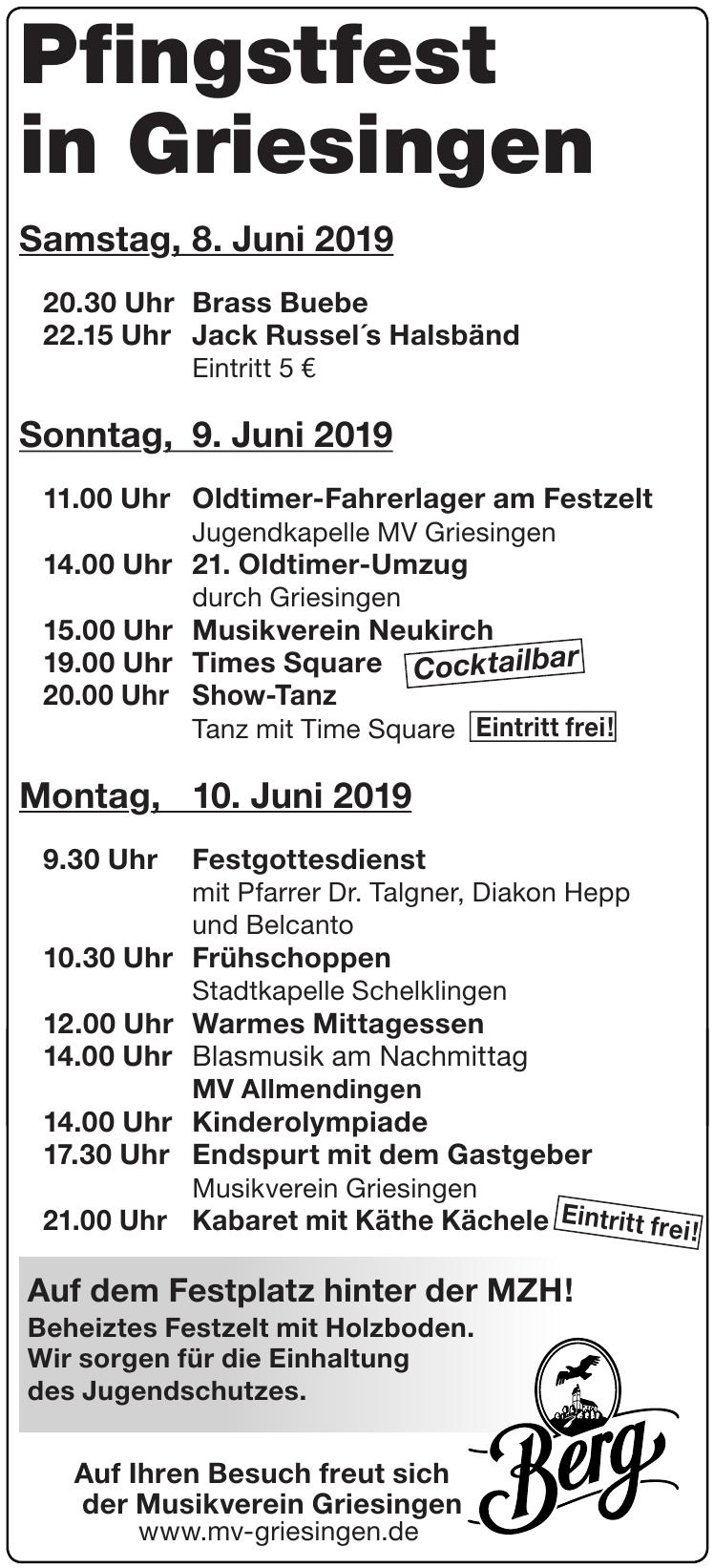 Pfingstfest in Griesingen