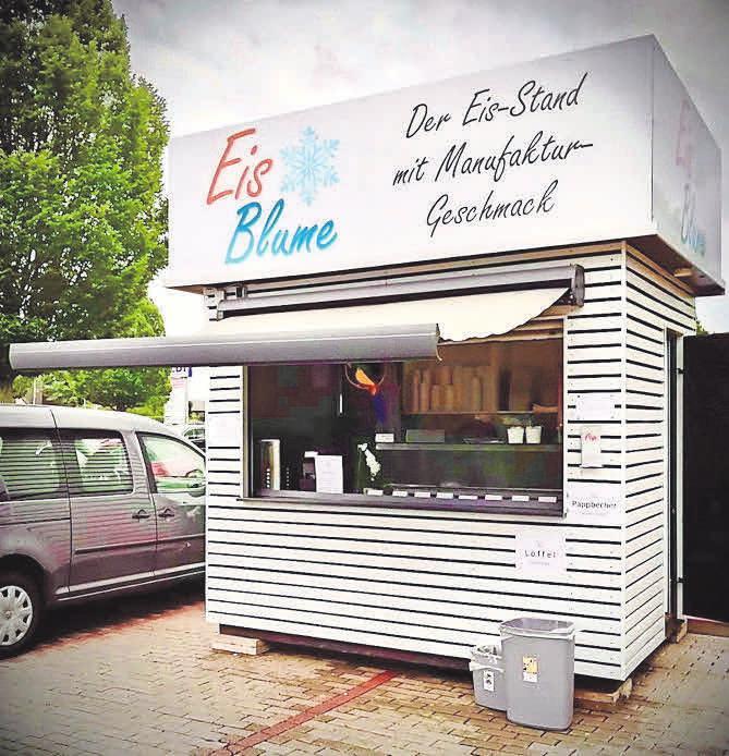 """Auch in Pattensen direkt, auf dem Center-Parkplatz steht eine """"Eisbude"""" von Frank Blume."""