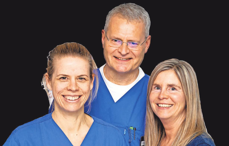 Ein eingespieltes Team: Dr. Anja Bossow, Dr. Heiner Müller und Dr. Anne Koenen (v. l.).