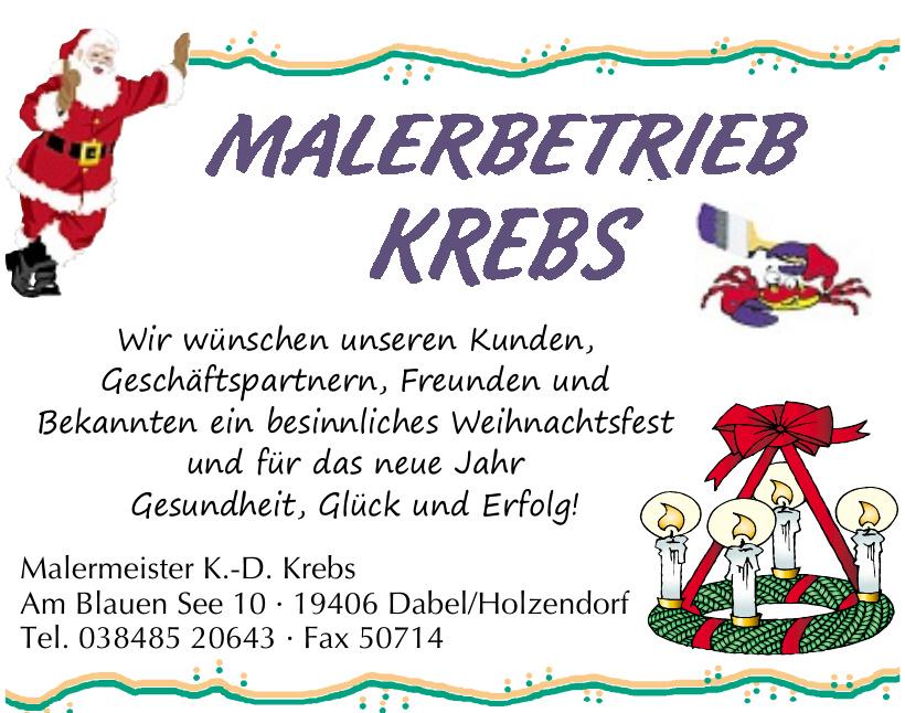 Malermeister K.-D. Krebs