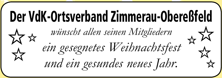 Der VdK-Ortsverband Zimmerau-Obereßfeld
