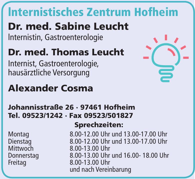 lnternistisches Zentrum Hofheim - Dr. med. Sabine Leucht, Dr. med. Thomas Leucht