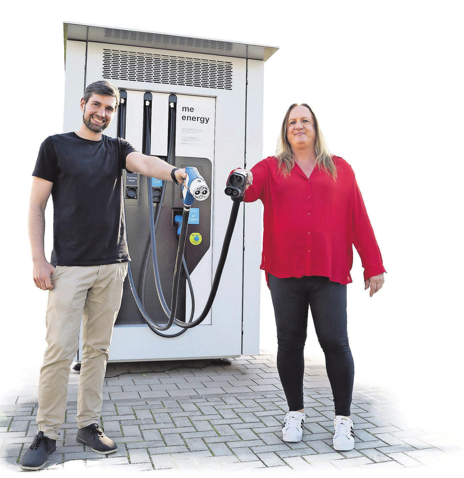 Gründeten ME Energy: Alexander Sohl und Inès Adler. fotos: ME ENERGY